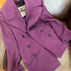 Pre loved Burberry peacoat jacket